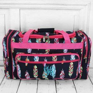 "Handbags - Fancy Feathers Duffle Bag- 23"" inch"